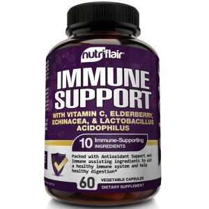 Immune Support & Booster with Vitamin C, Elderberry, Echinacea, Probiotics Pills 1