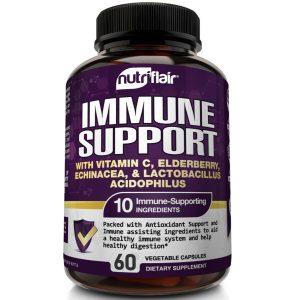 Immune Support & Booster with Vitamin C, Elderberry, Echinacea, Probiotics Pills 1