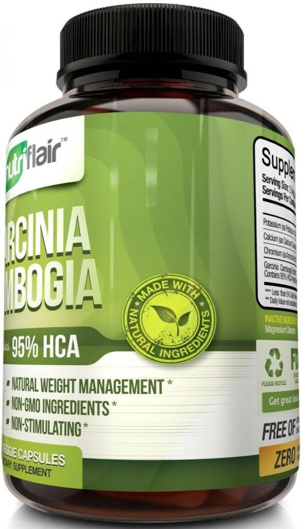 ▶ Pure Garcinia Cambogia 95% HCA Extract Best Weight Loss Diet Pills, Fat Burner 2