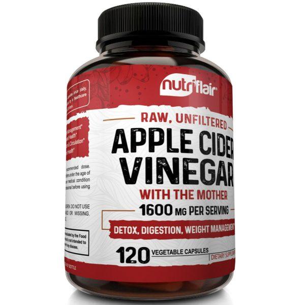 ▶ Apple Cider Vinegar Capsules - 1600mg with The Mother 120 Vegan Keto Pills 3