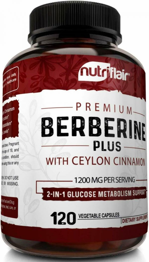 Premium Berberine HCL Pills 1200mg Plus Organic Ceylon Cinnamon - 120 Capsules 3