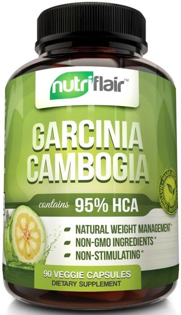 ▶ Pure Garcinia Cambogia 95% HCA Extract Best Weight Loss Diet Pills, Fat Burner 1