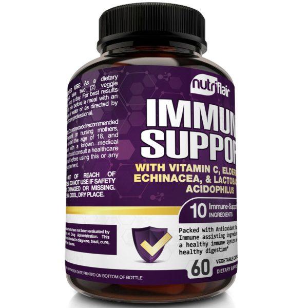Immune Support & Booster with Vitamin C, Elderberry, Echinacea, Probiotics Pills 3