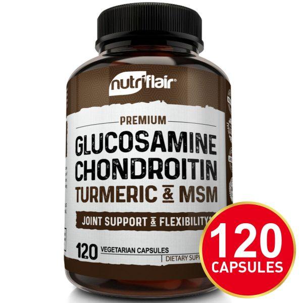 Glucosamine Chondroitin Turmeric & MSM 120 CAPSULES - Bones, Joint Support Pills 1