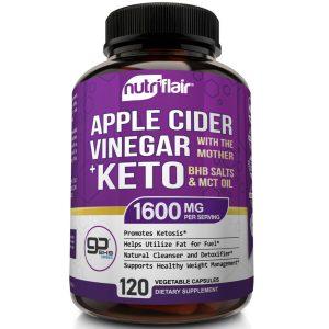 ☀ Raw Apple Cider Vinegar Capsules with Mother + Keto Diet Pills Go BHB Salts 1