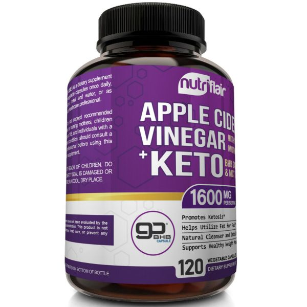 ☀ Raw Apple Cider Vinegar Capsules with Mother + Keto Diet Pills Go BHB Salts 3