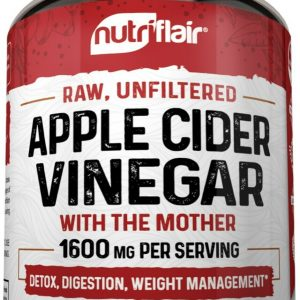 ▶ Apple Cider Vinegar Capsules - 1600mg with The Mother 120 Vegan Keto Pills 1
