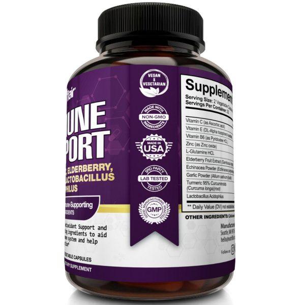 Immune Support & Booster with Vitamin C, Elderberry, Echinacea, Probiotics Pills 2