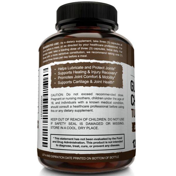 Glucosamine Chondroitin Turmeric & MSM 120 CAPSULES - Bones, Joint Support Pills 5