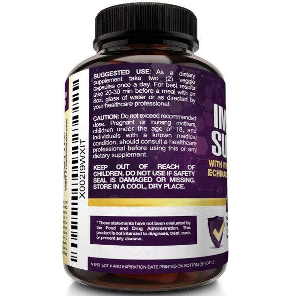 Immune Support & Booster with Vitamin C, Elderberry, Echinacea, Probiotics Pills 4