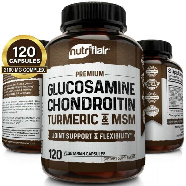 Glucosamine Chondroitin Turmeric & MSM 120 CAPSULES - Bones, Joint Support Pills
