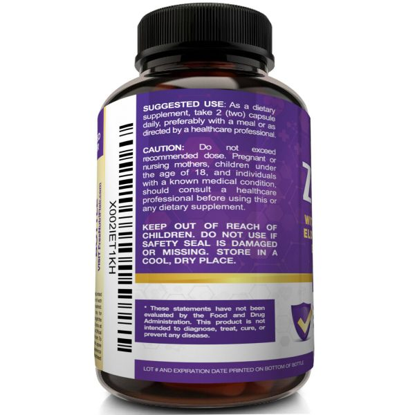 NutriFlair Zinc Plus - Zinc 50mg, Vitamin C, Elderberry, Echinacea - Immune Pill 4