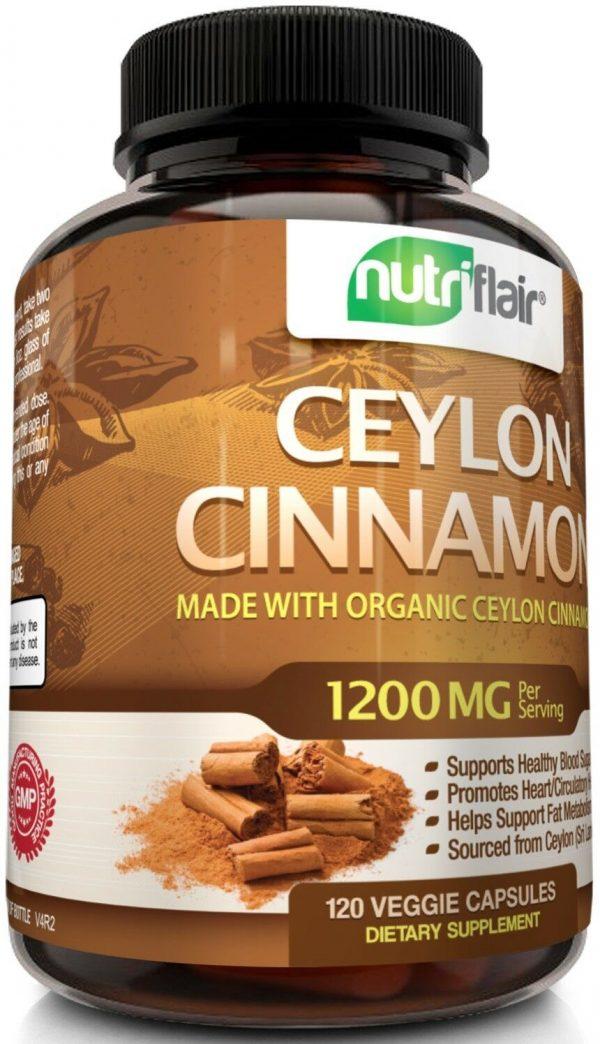 ☀ NutriFlair Ceylon Cinnamon Supplement Pills, 1200 mg / Serving, 120 Capsules 7