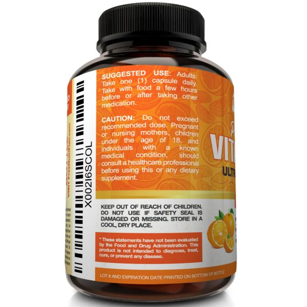 NutriFlair Pure Vitamin C 1000mg - 90 Capsules Immune Support High Dose Pills 4