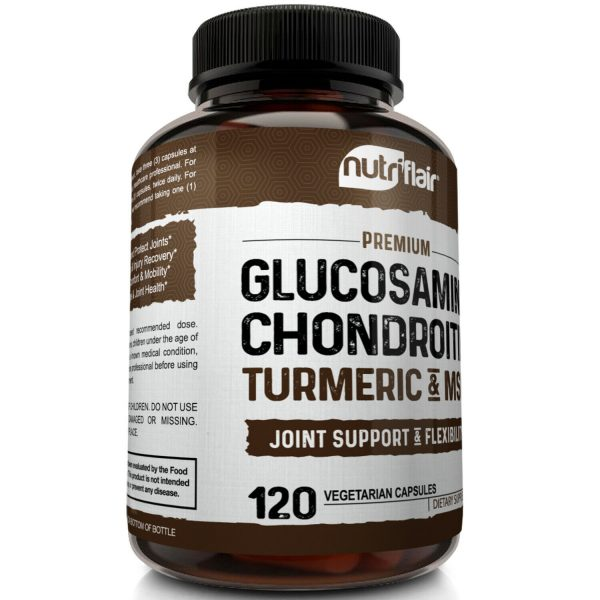 Glucosamine Chondroitin Turmeric & MSM 120 CAPSULES - Bones, Joint Support Pills 4