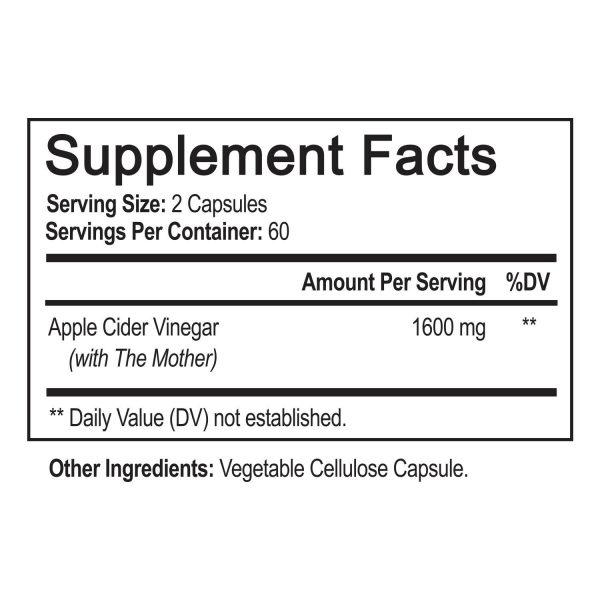 ▶ Apple Cider Vinegar Capsules - 1600mg with The Mother 120 Vegan Keto Pills 6