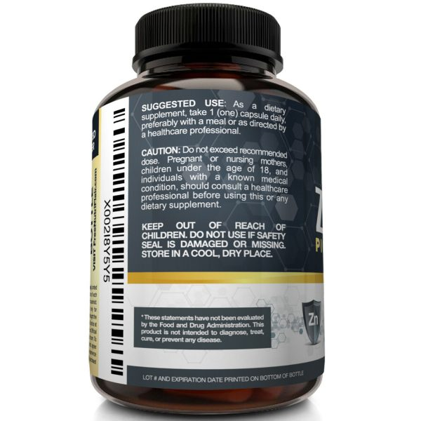 NutriFlair Zinc Picolinate 50mg, 120 Capsules - Immune System Booster & Support 4