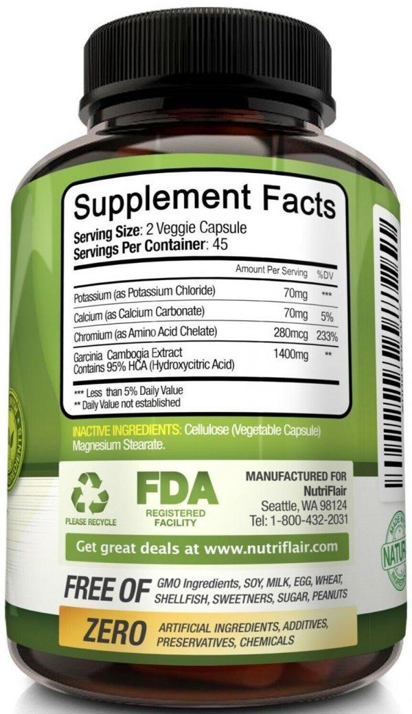▶ Pure Garcinia Cambogia 95% HCA Extract Best Weight Loss Diet Pills, Fat Burner 4