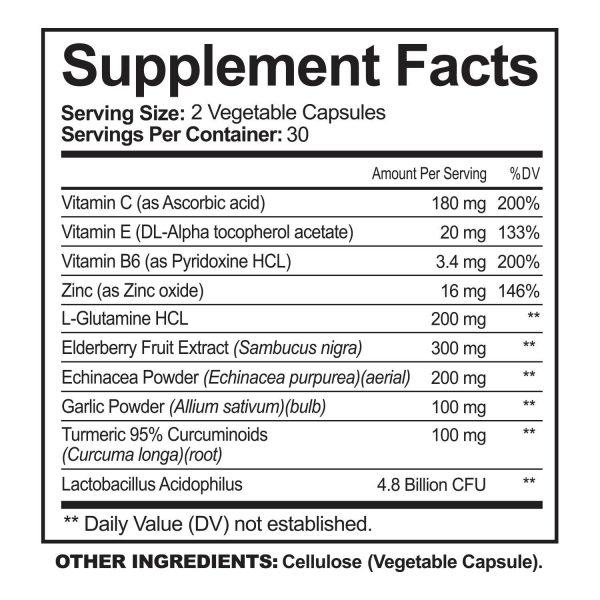 Immune Support & Booster with Vitamin C, Elderberry, Echinacea, Probiotics Pills 6