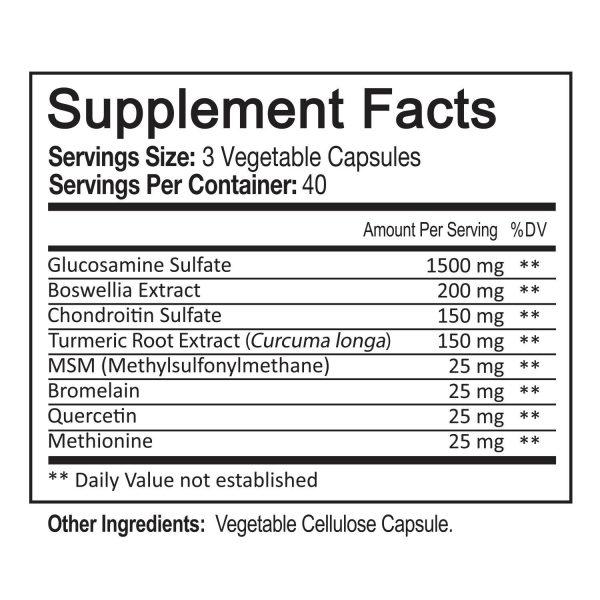 Glucosamine Chondroitin Turmeric & MSM 120 CAPSULES - Bones, Joint Support Pills 7