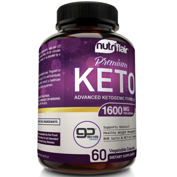 ☀ Best Keto Diet Pills 1600mg with MCT Oil Powder- Advanced Weight Loss Capsules 3