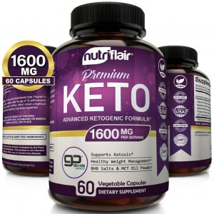 ☀ Best Keto Diet Pills 1600mg with MCT Oil Powder- Advanced Weight Loss Capsules
