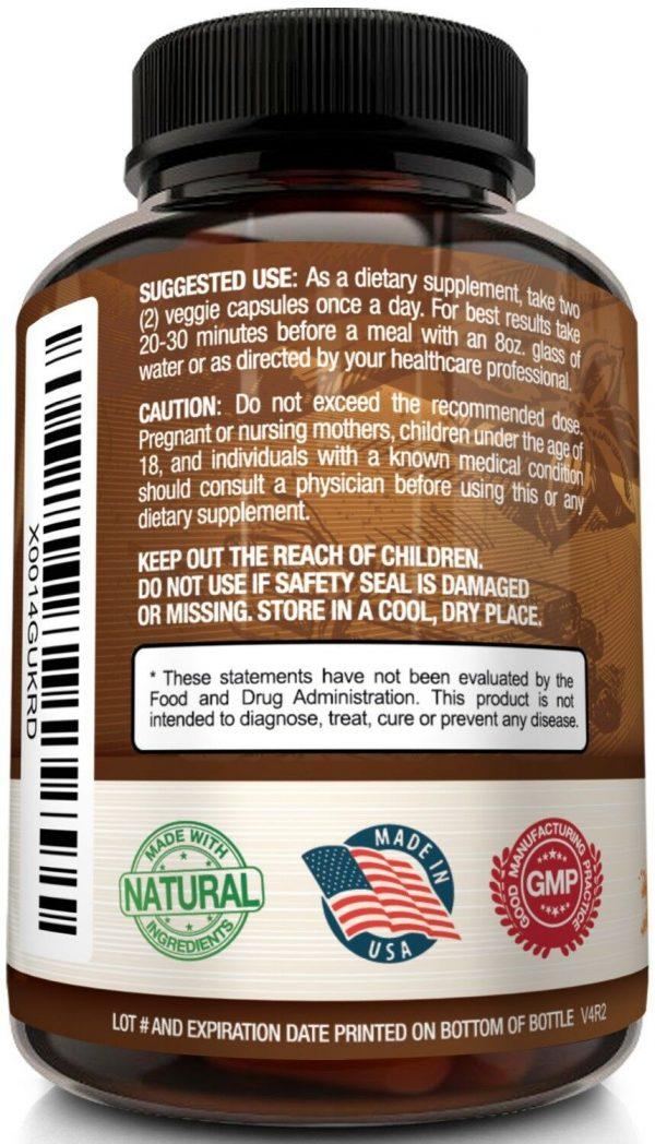 ☀ NutriFlair Ceylon Cinnamon Supplement Pills, 1200 mg / Serving, 120 Capsules 5