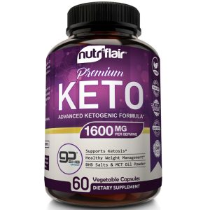 ☀ Best Keto Diet Pills 1600mg with MCT Oil Powder- Advanced Weight Loss Capsules 1