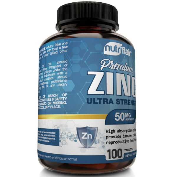 NutriFlair Zinc Gluconate 50mg, 100 Tablets - Immune System Booster & Support 3