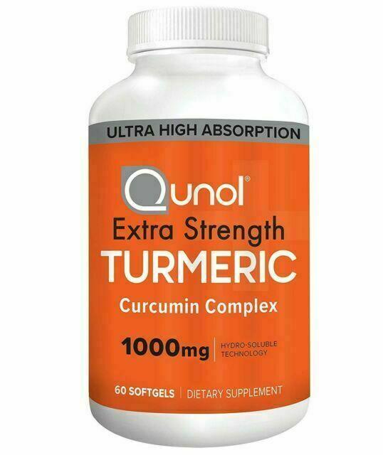 Qunol Extra Strength Turmeric Curcumin Complex 1000mg 60 Softgels 03/2023