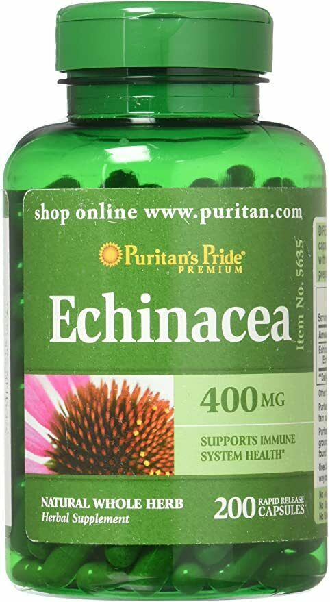Echinacea 400 mg for Immune Health by Puritan's Pride to Support Immune Sys 200