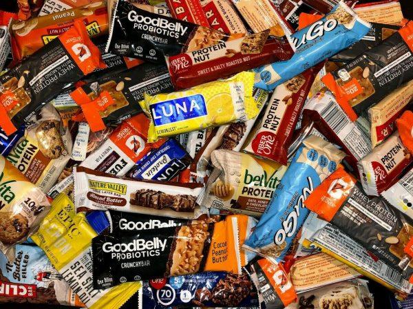 ~90 (9lb) Assorted Brand NUTRITION PROTEIN ENERGY BARS Luna PowerBar Gatorade 2