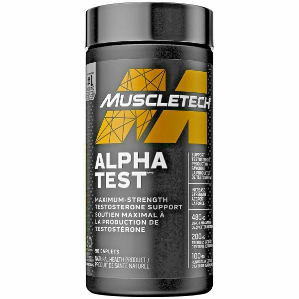 Muscle Tech  Alpha Test  Test Booster .120 Capsules. Free Shipping