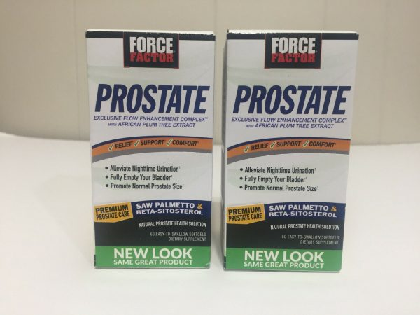 "2 New Boxed ""Force Factor"" Prostate Exclusive Flow Enhancement Complex 60X2=120"