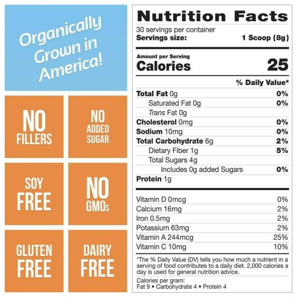 Grown American Superfood: 31 Organic Whole Fruits and Vegetables in Every Scoop! 5