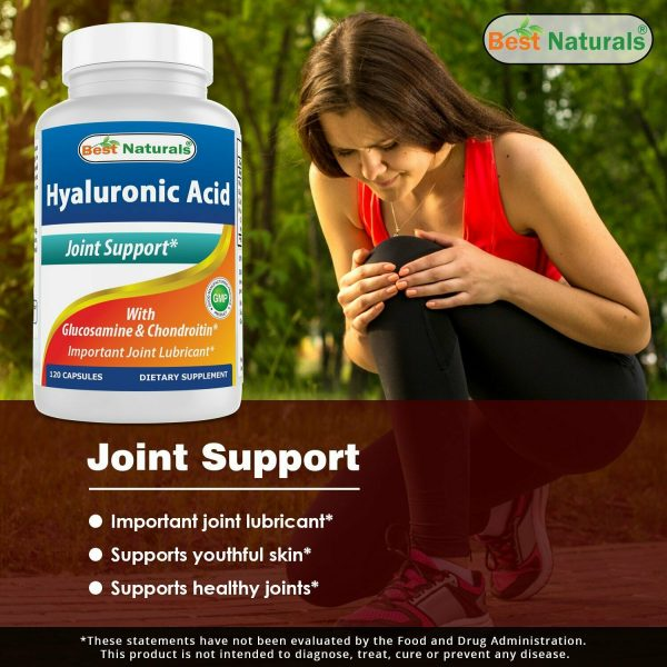 Best Naturals Hyaluronic acid 100 mg 120 Capsules - Youthful Skin & Joint Health 2