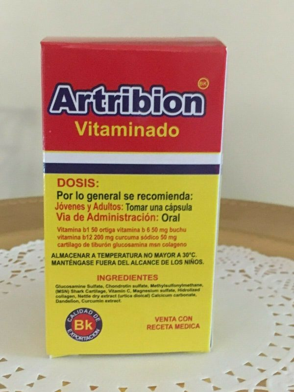 ARTRIBION Vitaminado Artritis, Inflamacion, Dolor, Reumatismo 30 soft Capsules  7