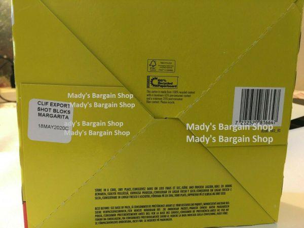 Clif Bloks During Energy Chews 18 Packs Margarita Citrus + Sodium BNIB 8