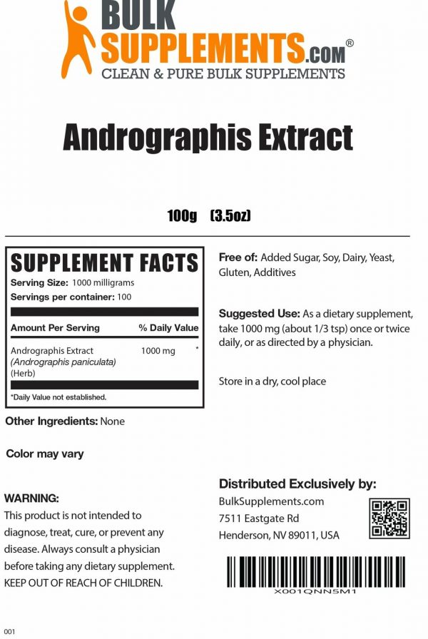 BulkSupplements.com Andrographis Extract 1
