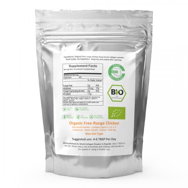 Chicken Bone Broth Collagen Powder - Pure & Organic - Free-Range (300g) 1