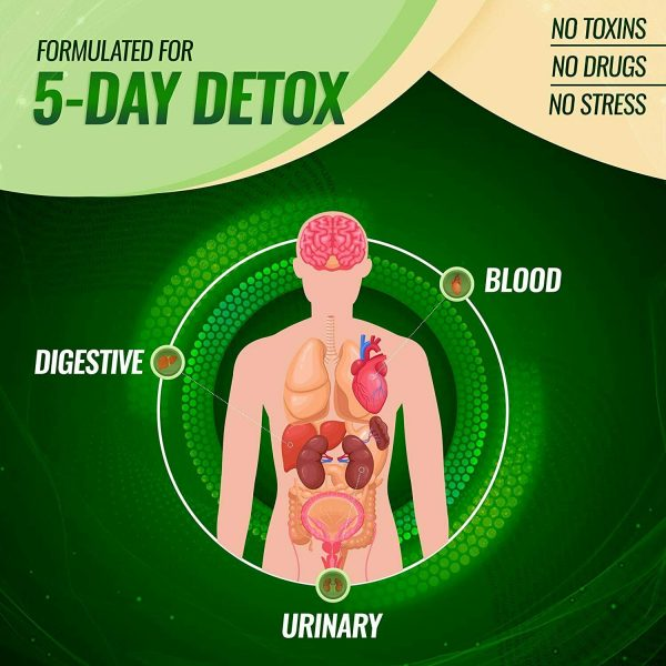 Liver Cleanse Detox & Repair Formula +22 Herbs Support 5 Day Fast-Acting DETOX 5