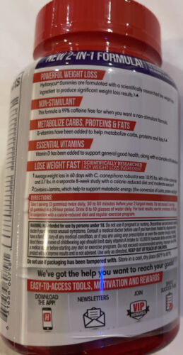 Hydroxycut Non-stimulant Weight Loss Gummies Mixed Fruit - 90 Count 3