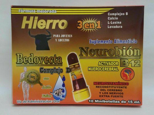 Ampolletas BEDOYECTA NEUROBION HIERRO 10 Botellas 15ml C/U                 CIMAE 6