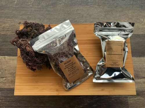 WILDCRAFTED Raw Purple Sea Moss Organic 2-20oz Real deal from Jamaica - READ!!! 1