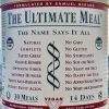 THE ULTIMATE MEAL - by THE ULTIMATE LIFE