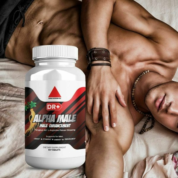 Alpha Male Testosterone Booster L Arginine, Maca, Ginseng Extract for Men 10