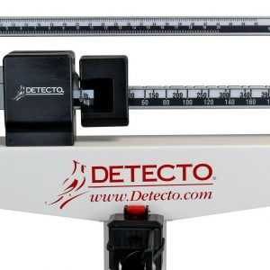 Detecto Eye Level Physician Scale 400 lb Capacity Body Weight with Height Rod 1