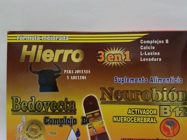 Ampolletas BEDOYECTA NEUROBION HIERRO 10 Botellas 15ml C/U                 CIMAE 1