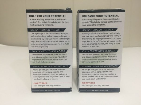 "2 New Boxed ""Force Factor"" Prostate Exclusive Flow Enhancement Complex 60X2=120 1"