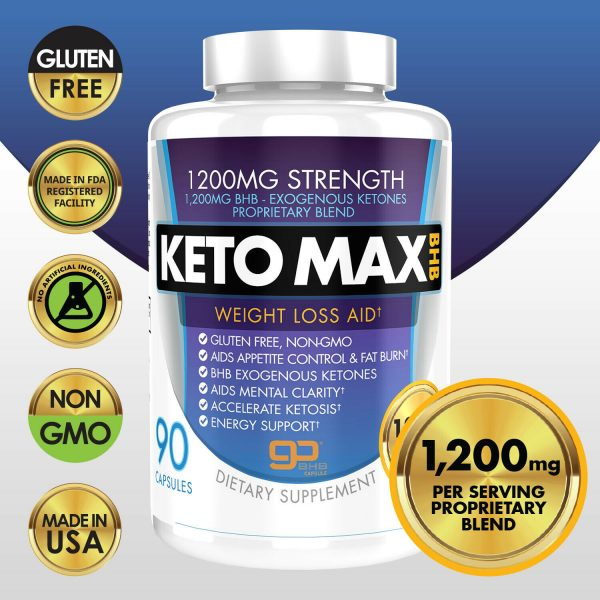 Pure Keto BHB Weight Loss Diet Pills 90 CAPSULE ACCELERATE Ketogenic Ketosis 1